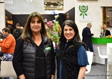 Cristina Uricoechea of Asocolflores and Ximena Franco of Florverde were also visiting the show.
