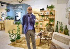 Thomas Offer Madsen of BotaniqLab. At their booth, the new spring-summer collection 'Earth Connection' took a central stage.
