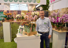 Marcel Moeskops of GreenBalanz. This orchid grower manages sustainable production in a novel way, growing the plants organically.