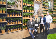 Richard van der Berg, Kayleig Ammerlaan, Jeannette Rosenboom and Jurrien de Vries, who together presented the plants and added value of Bunnik Plants and Bunnik Creations.