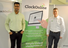 Soerinder Somai and Marco Stolze present ClockOnline, with which growers can auction their products from the nursery, in real time, on their own PC or mobile phone, or in the app or browser. It looks promising and the interest is there, the gentlemen explain.