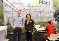 Thon Groenendijk and Simone Heilbink of All Plant. In the green plants, there's plenty of business, which All Plant knows very well. The expansion, opened about two years ago, is already becoming on the small side.