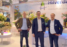 A youthful team at Hilverda Kooij, the breeding company that may soon continue under another name (Hilverda Florist, perhaps?). Pictured here are Ivo Groot, Martijn Besemer and Jan-Peter Steetskamp