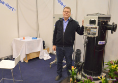 Aksel de Lasson of Aqua-Hort, which kills fungi and bacteria in water through elecrotlysis.