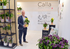 Jasper Zuidgeest of DynaPlant, calling consumers' attention to plants with the #sohappycalla brand.