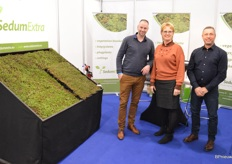 SedumExtra, specializing in green roofs, a growing market. Pictured are Kevin van Praat, Ria de Brouwers and Armin Heilmann