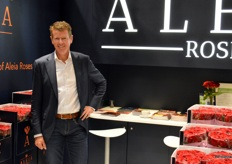 Dirk Hogervorst, director of Spanish-Dutch rose grower Aleia Roses. At the show, the grower presented the new Maxima brand.
