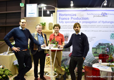Kees Eveleens and Thomas Eveleens of Bocaise Hydrangea propogation together with two growers.