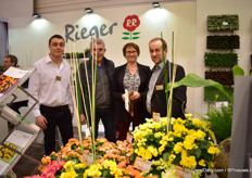 Phillip Becker (left) and Matthias Rohde (right) together with growers Anne Malaka and Philippe Eyraud of Eyraud Productions.
