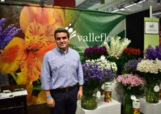 James Andreade of Valleflor. It is the first time at the IPM Essen for this Ecuadorian flower grower.