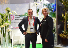 Auke Heins and Caroline Janknegt of Royal FloraHolland are exhibiting at the floradecora from the very beginning, showing the visitors how they can assist them when using fresh flowers and plants in their stores.