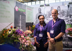 Joyce Muchiri and Roberto Bonanno of the Flower Hub. According to Bonanno, the Chines market is quite event driven and they are fond of niche products. Besides, more and more is being bought online.