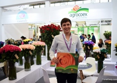 "Juan Martin Espinosa of Agrocoex. This Ecuadorian rose grower is now about 3-4 years active on the Chinese market and they see - like many others- a lot of potential, but it takes time. ""The rose import market is relatively new for the Chinese."""