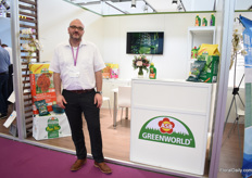 Harald Boppre of Greenworld. This German growing media suppliers is exhibiting at this show for the first time and is looking for more dealers in China.