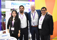 The team of Panalpina; Luis Carlos Bautista, Stepham Ribauleau and Juan Pablo Collaguazo with their interpreter Wu Hanfei. With several offices and 1,500 employees, they are one of the biggest in China. Over the last years, they have increased their shipments of flowers.