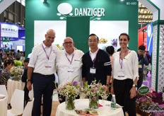 "Amir Dor, Micha Danziger and Anat Moshes with one of their young plant producers. According to Micha, the market for flowers and plant is growing fast in China. ""According to the Shanghai Flower Association, the industry is growing 20% per year in this area."""