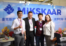 The team of Mikskaar; Zheng Tianren (interpreter), Indrek Valo, Kevin and Mare Kaiga. They export to 60 different countries and started to export to China 10 years ago. Currently, they have a distributor in the North and South of the country and step by step, they see their exports to this country increasing.
