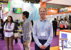Vincent van der Wijngaard of Horticompass was also visiting the show. He consults Chinese growers and is specialized on the tomato cultivation.
