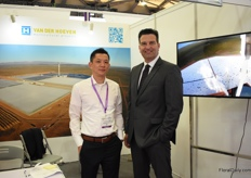 Michael Min and Don Kester of Vander Hoeven. They are currently building a warehouse project for tomatoes in China.
