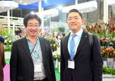 Dajiro Hadara and Seiichi Miyoshi of Miyoshi were visiting the show.