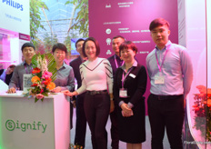 "The team of Signify. Their sales are growing fast and there are proud of their good relationships with both the Dutch at the Wageningen University and their local partners. They conduct a lot of trials in China to see if the lights improve the quality and color of the plants. During the trials, they were pleased to see that their LED lights succeed. ""Pure color is important for the Chinese consumer and we have seen that our LED's let the plants show a pure color."""