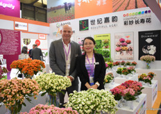 Stefan Slijkerman of Slijkerman Kalanchoe and Sandy Yun of Beautiful Agri, the Chinese agent of Slijkerman Agaris, Varinova and Henk Braam.