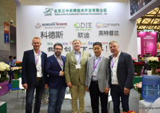 Remco Bergman of Odie Farms, Norman Kordes of Kordes Roses, Robert Ilsing of Interplant Roses, Yuan Xianyang of Beijing Landsong AgriBusiness Technology Delopment ant Luis Hooymand of Odie Farms.