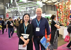 Zizi Wen and Piet Zegers of IAA Fresh visiting the show.