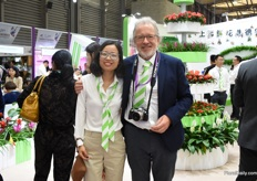 Amanda Lui together with Reginald Deroose from Deroose Plants in Belgium.