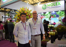 Tom Li and Bob van Vianen of Holex. They import flowers, mainly from the Netherlands and they recently (January 2019) established a representative office in Shanghai.