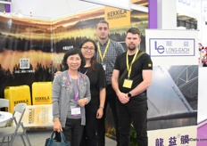 Julia Wu and Jeania Wu of Foreport Agent (agent of Kekkila in China) together with Ned Basic and Alexander Kovache Vich of Kekkila Professional.