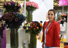 Luz Marina Proano of Azaya Roses is exploring the Chinese market and attending the Hortiflor Expo for the first time.