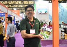 M.B. Naqvi of Floriculture Today was also visiting the show