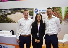 Tom van Veen, Yuxi Niu and Marco Zwinkels of Prins Group.