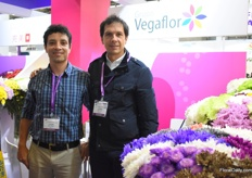 John Bedoya and William Gil of Vegaflor are attending this trade show for the first time.