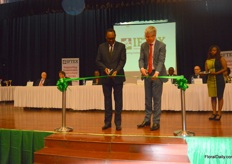 PS trade Dr. Chris Kiptoo and RFH CEO Steven van Schilfgaarde officially opening the show.
