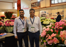 Ravi and Naren Patel of Subati in their newly decorated stand.