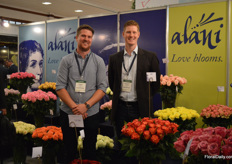 Stephan Heymer of Van Kleef Roses and Alexander Letkow of Rosen Tantau. Van Kleef Roses represents Rosen Tantau in Kenya and Alani is the farm where the varieties are grown.