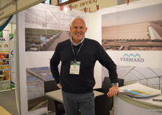 Peter Wicke of greenhouse manufacturing company Vermako. In Africa, they often cooperate with Mereg, who supplies the greenhouse automation solutions.
