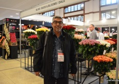 Salaiman Alaqaibi of United Flowers, an importer out of Saudi Arabia, was visiting the show.