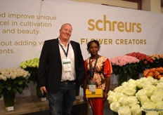 Haiko Backer and Martha Wanjiku of Dutch rose breeding company Schreurs.