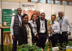The team of Koppert won the golden award at the IFTEX best stand competition.