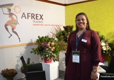 Lee Sarah Julies of Afrex Trading. Their wax flowers are a bit earlier this year and this is probably that there are, unlike last year, no more water restrictions in South Africa.