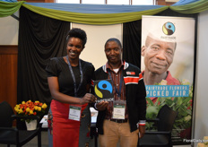 Lilian Maina and Brian Nimwesiga of Fair Trade Africa. The end of 2018, they received a lot of request from rose growers, opting for a FairTrade certification. However, this growth isnt yet reflected in the market demand, Maina eplains. Currently, they are working hard to let this growth goes hand in hand.