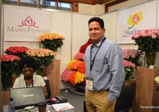 Jane Aayako and Arun Mishra of East African Growers. Their Shalimer Flowers farm grows roses at an altitude of 1950m and their Mahee Flowers farm at 2400m.