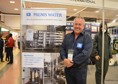 Jochem Genuit of Mienis Water. He sees the demand for his reverse osmosis systems increasing.