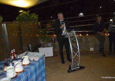 Frans Makken, the Dutch Ambassador in Kenya, giving a small opening speech.