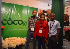 The team of Cocogrow. This year, exhibiting for the second time. They make cocos peat out of the cocus sourced out of Kenya.