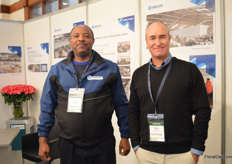 Amraphael Mwatibo and Patrick Garner of Geerlofs Kenya. They are currently building a lot of cooling facilities at the airports in Kenya.