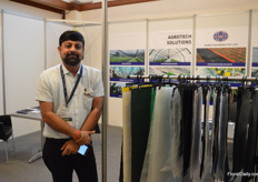 Divyesh Goradia of Shakti Polyweave supplies textile fabric used for greenhouse and nursery purposes. He is exhibiting at the IFTEX for the first time.